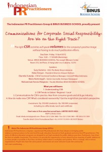6th IPPG Workshop – Communications for CSR